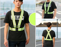 Wholesale 2016 New Safety Clothing Cheap Chaleco Reflectante Reflective M Fabric Material Strip Tap Band Vest Jacket