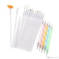 Wholesale Design Painting Dotting Detailing Nail Art Pen Brushes Bundle Tool Kit Set Nail Brush Set Nail styling tools