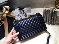 Wholesale New original High quality Women bag plaid vintage Quilted le boy chain shoulder bags Velvet channel leboy flap bag crossbody bag