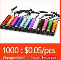 Wholesale Mini Stylus Touch Screen Pen With mm Anti Dust Plug For S7 edge S6 S6 edge iPhone SE Plus Capacitance Colors Tablet PC Capacit