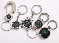 activity keychains - New Style Metal Buckle Activities Promotion Gifts Compass Keychains Birthday Wedding Gifts Bag Car Mobile Hanging Pendants Keychains