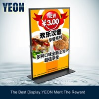 Wholesale YEON Desktop Metal Double Sided Sign Display Holder Supermarket Price Holder for Promotion MOQ Bulk Order Available