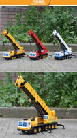 Wholesale 4 to years old children s toys gift for alloy large crane model Delicate force s rotary telescopic crane