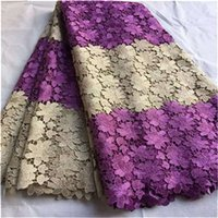 soluble fabric - 2016 African Lace Fabrics Yards High quality African Guipure Color Line Lace Fabric Water Soluble Nigerian Print Lace For Wedding Dresses