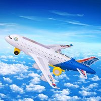 Wholesale Electric Airplane Moving Flashing Lights Sounds Kids Toy DIY Aircraft Gift Plastic ABS Airplane Toys