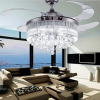 bedroom fans - Led Ceiling Fans Light AC V V Invisible Blades Ceiling Fans Modern Fan Lamp Living Room Bedroom Chandeliers Ceiling Light Pendant Lamp