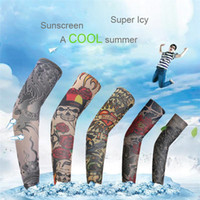 Wholesale Fast Shipping Tattoo Oversleeve Arm Sleeve Cycling Bike Bicycle Outdoor Arm Warmers Cover Oversleeve Sleevelet
