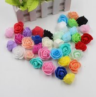 artificial mini flowers - 300pcs Mini PE Foam Rose Artificial Flowers For Wedding Car Decoration DIY Pompom Wreath Decorative Valentine s day Fake Flowers