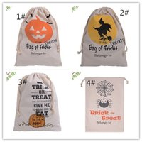 Wholesale Halloween Treat Bags Halloween Candy Canvas Bag Pumpkin Head Gift Packing Bag FREE DHL