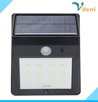 Wholesale 12LEDs LED solar lamp outdoor waterproof led solar wall light IP65 Infrared sensor NO OFF PIR Motion Sensor