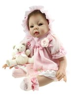 Cheap Unisex silicone vinyl baby girl doll Best 3-4 Years silicone doll toy gift