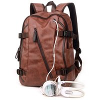 backpacks college - Men Mix Cow Leather Backpacks Men s Fashion Backpack Travel Bags Western College Style Bags Mochila Feminina