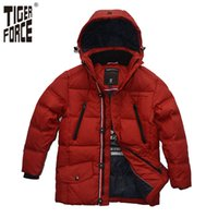 baby russian hat - TIGER FORCE Brand Fashion Boy Baby Down Jacket White Duck Down Hooded Jacket Winter Russian Style TD