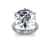 Wholesale 10ct Stunning Natural Round Solitaire Huge Diamond Engagement Ring SI1 I GIA