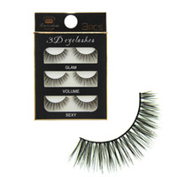 Wholesale Newest Pairs D Black Cross Thick False Eyelashes Super Soft Natural Long Makeup Eye Lash Extension STYLE