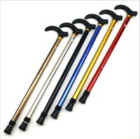 aluminum alloy crutches - Aluminum alloy scalable crutch section telescopic adjustable sticks Prevent slippery the old cane walker
