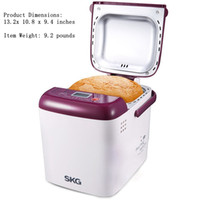 Wholesale Bread Maker SKG Multi Functional Automatic Programmable LB Mini household cake baking bread maker machine Purple White