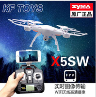 Wholesale SYMA X5SW X5SW FPV WIFI RC Drone Quadcopter With Camera Original X5C Upgrade MP GHZ Axis Real Time Toys