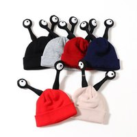 baby reach - Han Edition New Winter Cap Children Reach The Baby Warm Insects Tide Children Eyes of Knitted Cap