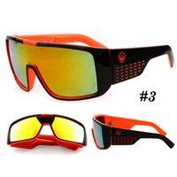Wholesale 2016 Sunglasses DOMO Sunglasses Reflective Lens Big Frame Sunglasses For Men Women Colors Top Quality Cycling Glasses Designer Sunglasse
