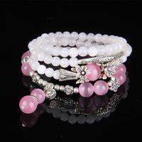 aquamarine quartz - Purse Lucky brave natural rose quartz crystal aquamarine blue Korean fashion jewelry multilayer bracelets woman bracelet