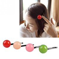 Wholesale Han edition import cute ball of candy word hairpin acrylic hairgrips bang clip hair headwear QJ