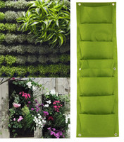 Wholesale 2016 New Indoor Outdoor Wall Hanging Planter Vertical Felt Garden Plant Pots Grow Container Bags Pockets Optional For Decor
