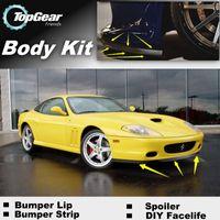 Wholesale Bumper Lip Lips For Ferrari M Maranello Front Skirt Deflector Spoiler For Car Tuning The Stig Recommend Body Kit Strip