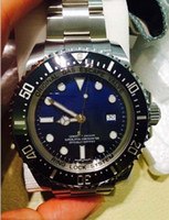 eta swiss movement - Top Quality AAA Mens Watch mm Blue Ceramic Bezel Sea Dweller Swiss ETA Movement Automatic Man Watches