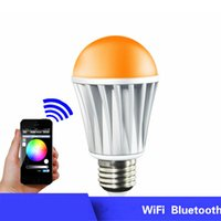 Wholesale Fashion Design LED Bulbs E27 Bluetooth Bulbs for iPhone Control WiFi Smart RGB LED Lighting Bulbs OED P001 W