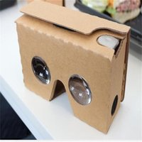 Wholesale 2016 google cardboad II vr box storm mirror glasses DIY custom D VR glasses for iphone plus samsung s7 with head band