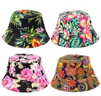 baby girl bucket hat - 10pcs Bucket sun hat for girls kids baby small summer hat pattern canvas material