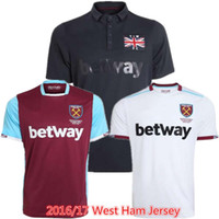 Wholesale 2016 West Ham United Jersey CARROLL PAYET ZARATE KOUYATE Soccer Jerseys Home red away Third Black TIWFC COMMEMORATIVE Football Shirts Kit