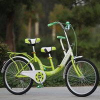 Wholesale New Outdoor Suitable for Mother Kid Tandem Bike Safety Touring Cruiser Bicycle Adjustable Three Seats JN0056 kevinstyle