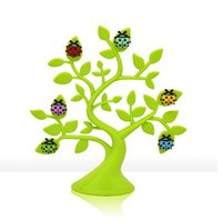 Wholesale 6 Lovely Colorful Beetle Fridge Magnet Luck Tree Magnetic Fridge Magnet Home Decoration Kitchen Tool Gift