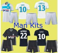 Wholesale 2016 Olympique de Marseille kits Soccer Jersey with shorts Batshuayi Maillot de Foot Payet Ocampos Lass Home Camisa football Shirt ET9204