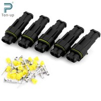 Wholesale 5 Sets Kits Connector Plug Car Auto Part Pin Way Sealed Waterproof Electrical Wire Connectors Set