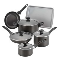 Wholesale Dishwasher Safe Nonstick Piece Cookware Set Black