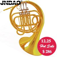 Wholesale High quality French horn JINBAO JBFH F tone Separated Bell key gold French horn entry model Brass body with mouthpiece