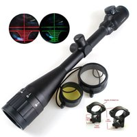 Wholesale Tactical x50 AOE Red Green Illuminated Dot Sight Riflescope Hunting Scope mm Rail Mount Airsoft New