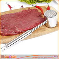 Wholesale Exquisite Simple Meat Mallet Tenderizer Steak Beef Chicken hammer Kitchen Tool Stainless steel Metal Useful and Easy With Retail box