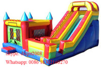 Wholesale New design Bounce House Trampoline Inflatable Bouncer Jumping Bouncy Castle Inflatable Slide on Hot Sale