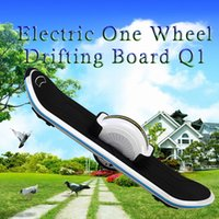 Wholesale 2016 Top Sellers Electric One Wheel Drifting Board Q1 Skateboarding for Men V Battery LED Light Bluetooth Cool Action Sports
