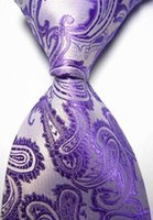 Wholesale For JACQUARD WOVEN Men s Tie Necktie Handmade band new Paisley for friend for gift fashion tie colors to choose