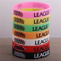 alliance black - Fashion LOL Hero Alliance Wristband Toys Online Game Cartoon Anime Peripheral Decoration Wristband Silicone Bracelets Fast Shipping