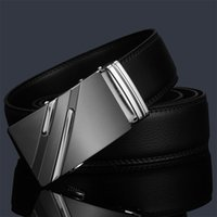 Wholesale New Mens Desinger Leather Belt Waistband With stripe Automatic Buckle High Quality