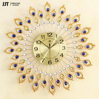 antique wall bracket - Creative Peacock Wall Clock Of Europe Type Style Fashion Metal Set Auger Clock Sitting Room Quiet Quartz Bracket Clock CM free ship