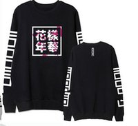 album cover sleeves - Bts bangtan boys new album cover same letters printing sweatshirt for men women supportive o neck pullover hoodies plus size