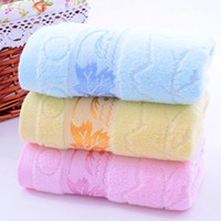 baby washclothes - 3 Plain Dyed Retail Towel Family Face Towels Hair Towel Washclothes x75cm Cotton Towels High Quality