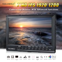 Wholesale Feelworld FW760 Inch IPS Full HD x1200 On Camera Field Monitor Peaking Focus Assist Histogram Zebra Exposure